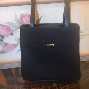 Guess small vinyl and leather like strap bag